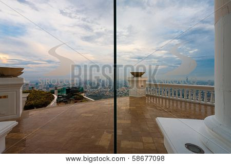 Patio Sirocco Restaurant Skybar Bangkok Skyline