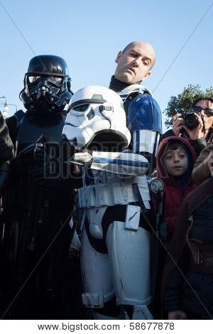 People Of 501St Legion Take Part In The Star Wars Parade In Milan, Italy