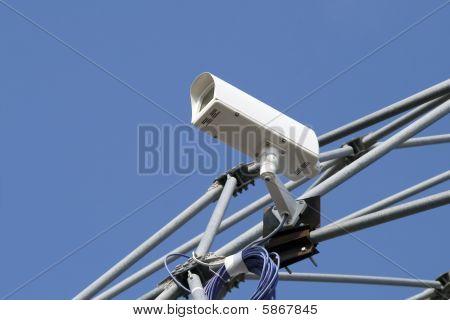Close-up Of A Security Digital Cctv Camera
