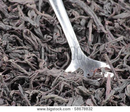 Black Tee And Teaspoon