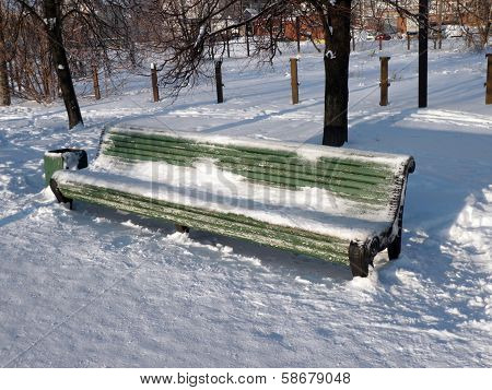 Bench At Winter