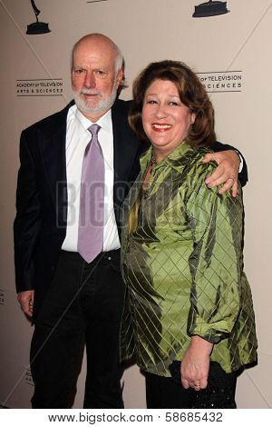 James Burrows and Margo Martindale at the Television Academy Presents An Evening Honoring James Burrows, Leonard H. Goldenson Theater, North Hollywood, CA 10-07-13