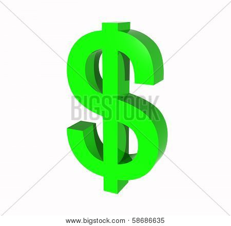 US Dollar 3D Symbol