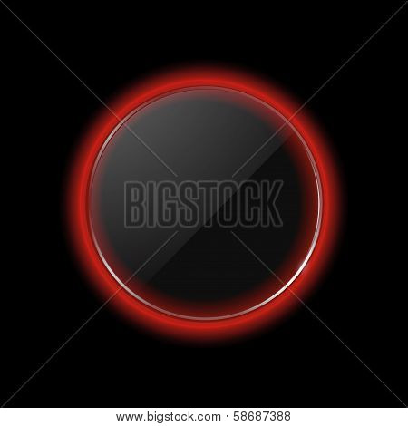 Neon Red Glass Border