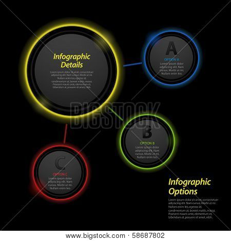 Neon Infographic Circle Background2