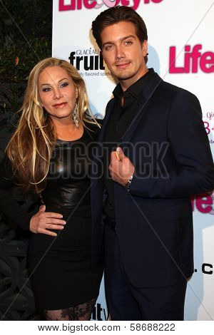 Adrienne Maloof and Jacob Busch at the Hollywood In Bright Pink, Bagatelle LA, West Hollywood, CA 10-09-13