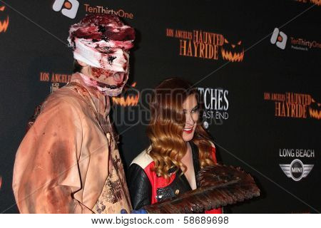 Rumer Willis at the 8th Annual LA Haunted Hayride Premiere Night, Griffith Park, Los Angeles, CA 10-10-13