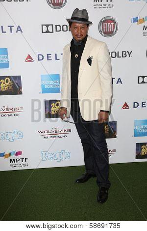 Terrence Howard at Hugh Jackman