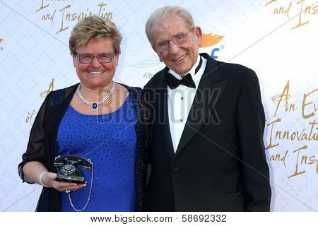 Rika Mann and Alfred Mann at the 10th Alfred Mann Foundation Gala, Robinson-May Lot, Beverly Hills, CA 10-13-13