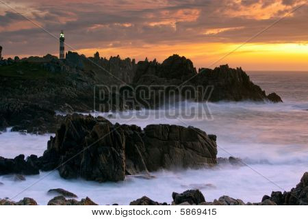 Beautiful Seascape At Dusk