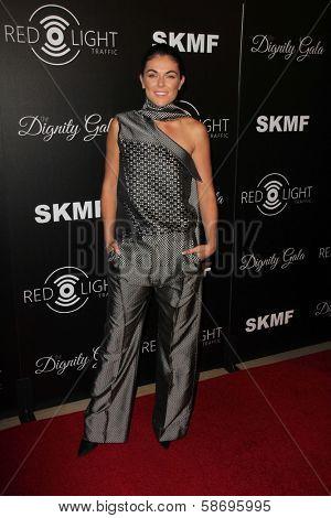 Serinda Swan Dignity Gala and Launch of Redlight Traffic App, Beverly Hilton Hotel, Beverly Hills, CA 10-18-13
