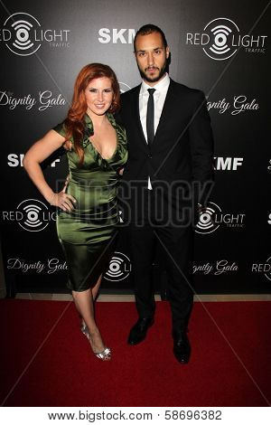 Britt Logan and Jaylen Moore Dignity Gala and Launch of Redlight Traffic App, Beverly Hilton Hotel, Beverly Hills, CA 10-18-13