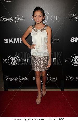 Rowan Blanchard Dignity Gala and Launch of Redlight Traffic App, Beverly Hilton Hotel, Beverly Hills, CA 10-18-13