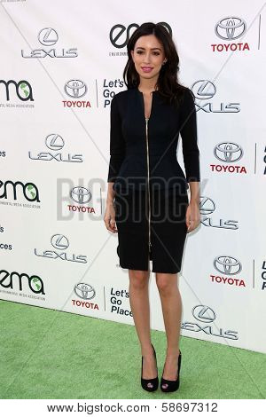 Christian Serratos at the 23rd Annual Environmental Media Awards, Warner Brothers Studios, Burbank, CA 10-19-13
