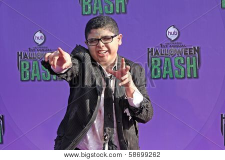 Rico Rodriguez at the Hub Network First Annual Halloween Bash. Barker Hangar, Santa Monica, CA 10-20-13