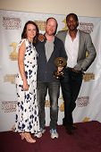 Amy Acker, Clark Gregg and J. August Richards at the 39th Annual Saturn Awards Press Room, The Casta