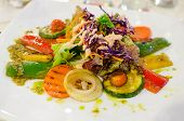 Grilled Vegetables Salad With Parsley Sauce
