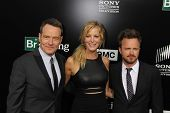 Bryan Cranston, Anna Gunn and Aaron Paul at the