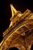Eiffel Tower By Night. Close View