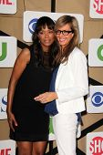 Aisha Tyler, Allison Janney at the CBS, Showtime, CW 2013 TCA Summer Stars Party, Beverly Hilton Hot