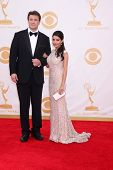 Nathan Fillion and Mikaela Hoover at the 65th Annual Primetime Emmy Awards Arrivals, Nokia Theater,