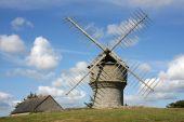 historic windmill poster