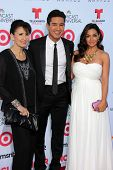Mario Lopez with mother and wife at the 2013 NCLR ALMA Awards Arrivals, Pasadena Civic Auditorium, P