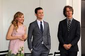 Chloe Grace Moretz, Joseph Gordon-Levitt and Jay Roach at Julianne Moore's Star on the Hollywood Wal