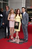 Jay Roach, Chloe Grace Moretz, Julianne Moore and Joseph Gordon-Levitt at Julianne Moore's Star on t