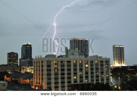 Downtown Orlando Lighning Strike