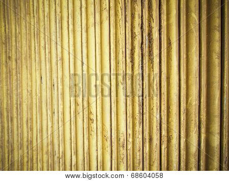 Yellow Metal Wall