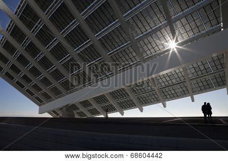 Large Solar Panel With Couple