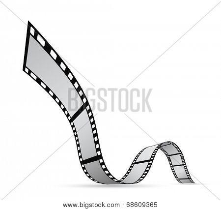 film strip reel background design