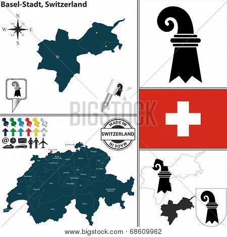 Map Of Basel-stadt, Switzerland