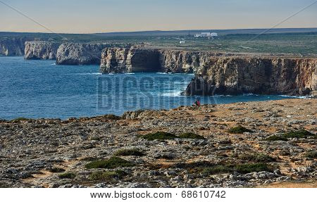 Atlantic Coast Near Fortaleza De Sagres, Portugal