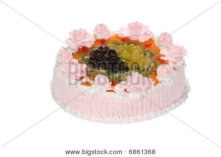 Wedding Sweet Cake With Flower