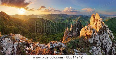 Rocky Moutain At Sunset - Slovakia