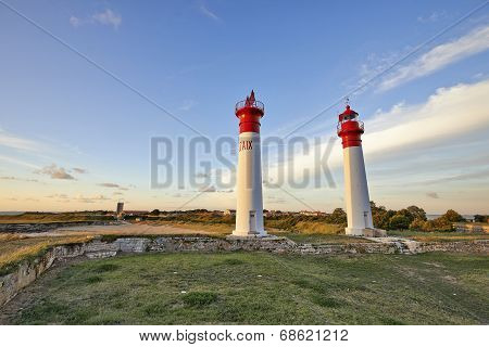 Lighthouse At Ile D'aix, On The Atlantic Coast Of France