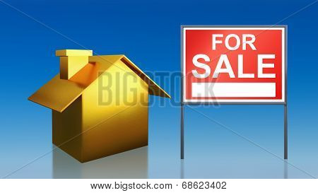 Gold House Sky For Sale