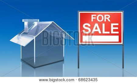Investment Blue Glass House For Sale