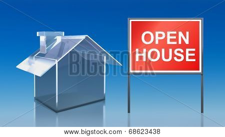 Investment Blue Glass House Open House