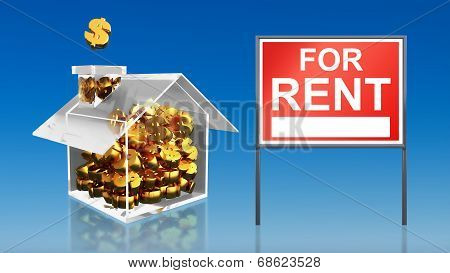 Investment Saving Money At House For Rent Sky