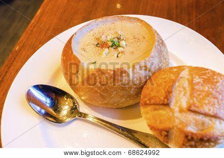 Sourdough Clam Chowder