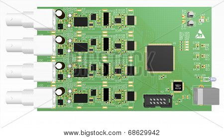 Device Pcb Green With Elements
