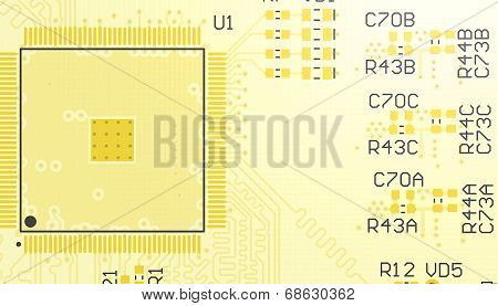 Pcb Yellow Without Elements