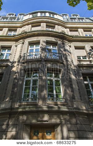 Dusseldorf, Germany, on July 7, 2014. Typical architectural details
