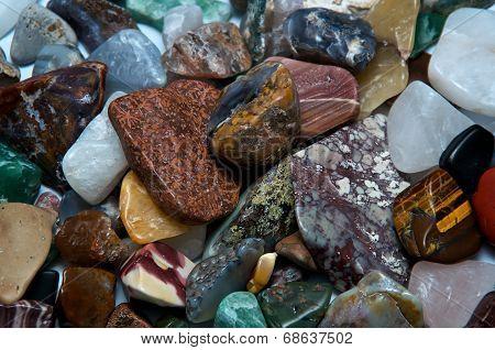 Polished Tumbled Rocks Detail