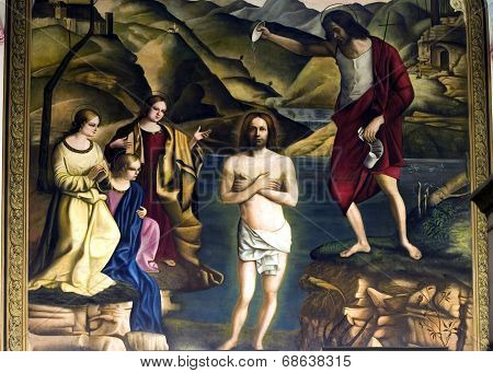 Jesus Painting Being Baptized