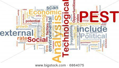 Pest Analysis Background Concept