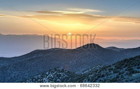 Ancient Bristlecone Pine Forest Sunset